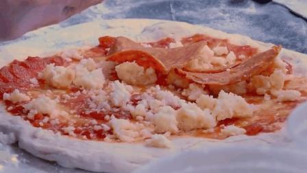 纽约街头的意大利辣味香肠玛格丽特比萨, 看的我口水直流三千尺!