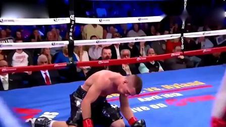 拳手被KO的短暂瞬间, 如同触电一般倒地不醒!