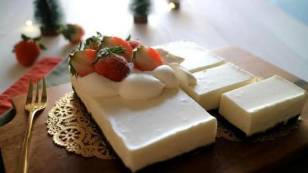 看看不用烤箱, 怎么做白巧克力慕斯蛋糕, 很简单, 一看就会