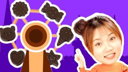 超能玩具白白侠 2017 日本食玩 DIY摩天轮巧克力游乐场!