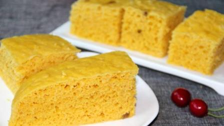 南瓜发糕的制作方法, 简单易做零失败, 松软香甜, 比蛋糕还好吃