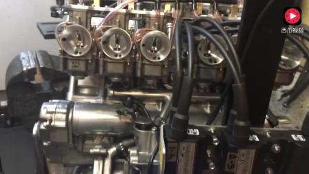 雅马哈374CC六缸发动机, 第一次启动, 嗨爆全场美女啦啦队!