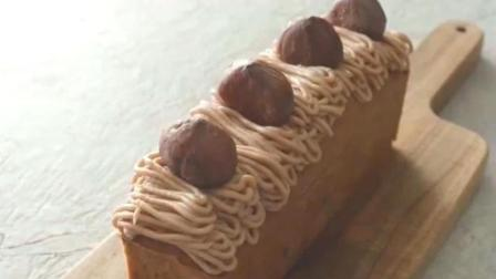 这是我见过最美的蛋糕, 1分钟学会做栗子蛋糕, 浓浓栗子香
