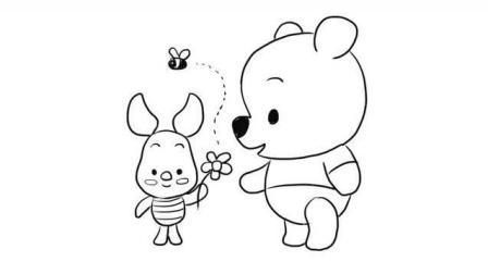 小熊维尼儿童亲子简笔画 宝宝轻松学画画