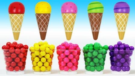 神奇的魔法料理机魔力72变! 小朋友们一起来变果味蛋卷冰淇淋啦