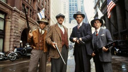 1987年上映的经典罪电影《铁面无私》! 许多镜头已成为影史经典