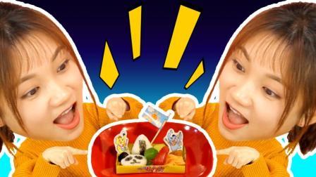 超能玩具白白侠 2017 日本食玩 意大利面熊猫套餐手工DIY