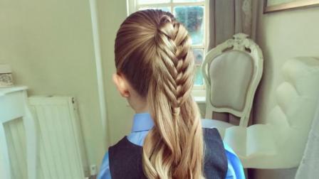 学生怎么扎马尾辫好看 超漂亮的小女孩发型