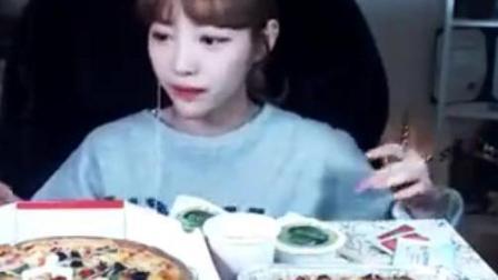 【韩国吃播-素琪】披萨饼+意大利面吃播