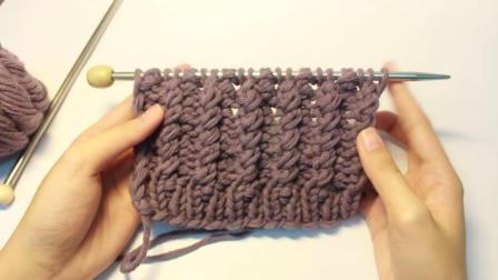 毛线鱼骨编织法教学视频 diy手工制作 神奇的毛线