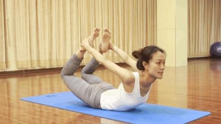 瑜伽含胸驼背矫正, 延展身体曲线的弓式