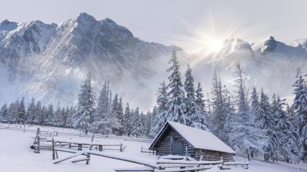 手绘线稿教程——雪景的表现