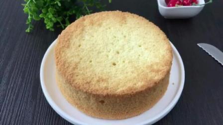 下厨房烘焙食谱 生日蛋糕坯子的做法 家用烤箱简单面包做法