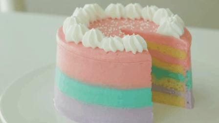 独角兽系列的少女心蛋糕, 看到这个配色我整个人都融化了
