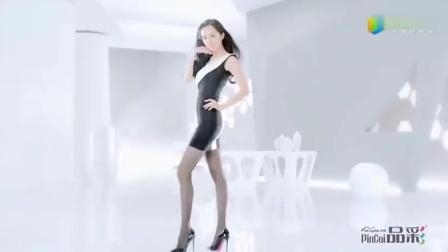 杨幂早年丝袜广告拍摄花絮流出, 大秀黑丝美腿