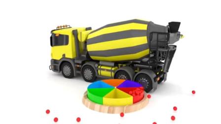 儿童工程车玩具车视频 水泥搅拌车 大卡车工作视频.mp4