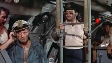"""美军舰长靠残损战舰把德军潜艇给整废了, 好一招""""玉石俱焚"""", 战斗没点手段还真不行!"""