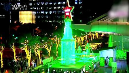 Heineken喜力灯光艺术装置点亮星圣诞