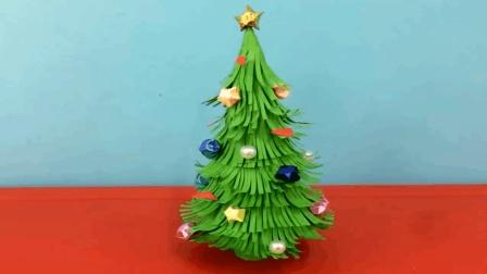 圣诞节小手工, diy手把手教授怎么做一棵漂亮的圣诞树