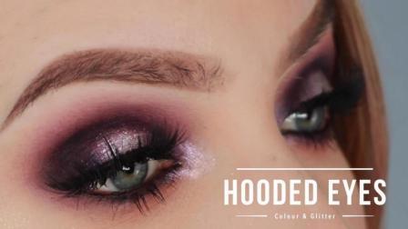 Stephanie Lange下垂眼型钻闪眼妆-Hooded Eyes Makeup - Colour & Glitter