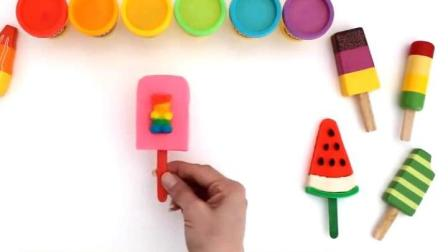 制作汉堡和蛋糕玩具视频  制作冰淇淋的玩具模具视频20