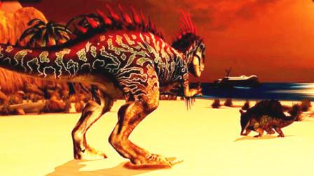 侏罗纪世界游戏 恐龙对战 第145期 陀螺球观赏车 狂暴龙 陌上千雨