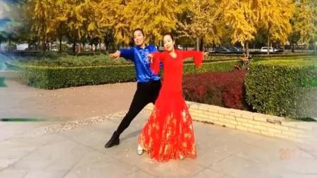 广场双人舞慢四对跳 入门健身交谊舞蹈