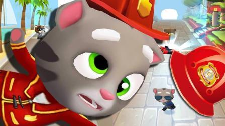 汤姆猫跑酷【383】带上头盔, 给我撞墙3次