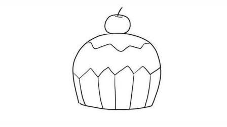 好吃可爱的蛋糕儿童亲子简笔画 宝宝轻松学画画
