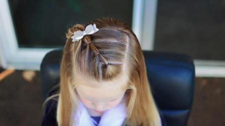 女学生短发发型 儿童简单发型扎法步骤