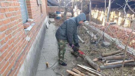 刘哥早晨起来只想做一件事情, 电锯、大镐是主角, 今天要大干一场