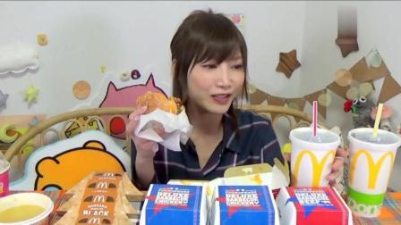 日本吃货木下挑战吃芝士肉排汉堡, 香浓巧克力派和麦旋风