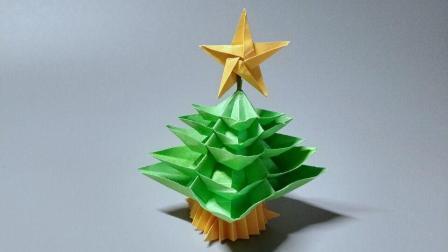 没有准备好圣诞树的你快看过来, 用纸折出来的圣诞树也可以很漂亮