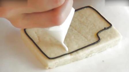 慕斯蛋糕教程把饼干画成可爱的相机, 你舍得吃吗烘焙蛋糕