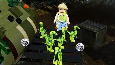 乐高游戏秀颌龙在侏罗纪世界寻找恐龙世界乐高积木