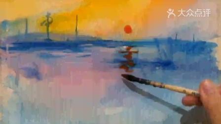 「最爱名画」如果莫奈的《日出·印象》变成水彩