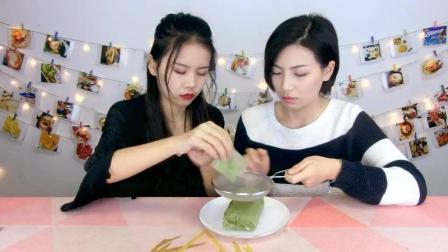 【蛋糕甜点】抹茶毛巾卷 从ins火到微博的网红甜点 美食测评
