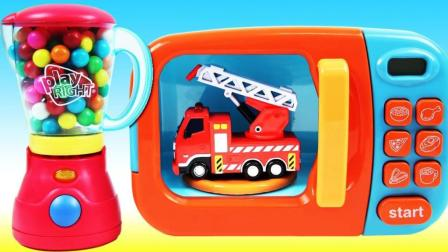 彩虹泡泡糖魔力变身小汽车? 魔法微波炉创意新玩法视频教程送给你