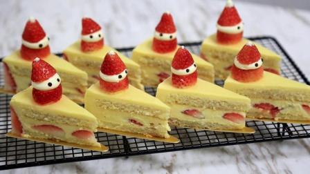 圣诞雪人草莓蛋糕: 草莓围边其实不难做