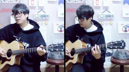 吉他弹唱《张三的歌》, 一个人当两个人用
