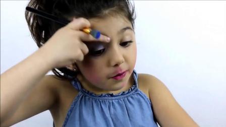 5岁小女孩化妆, 化妆后连我都佩服了