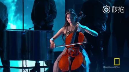 欧阳娜娜在NASA颁奖典礼上的大提琴演奏, 真的被惊艳到了