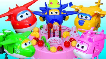 超级飞侠乐迪多多小爱制作生日蛋糕给酷飞过生日