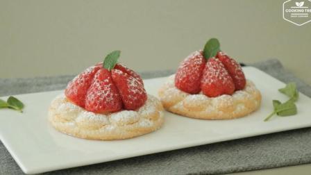 法式甜点轻松GET! 教你做草莓蛋白酥皮奶油卷筒