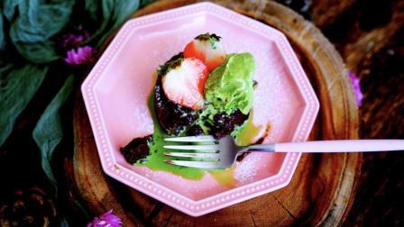 我的日常料理 第一季 冰火两重天的完美暴击 抹茶冰淇淋巧克力熔岩蛋糕