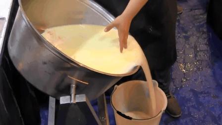 新鲜乳酪手工制作成干酪, 全过程实拍!