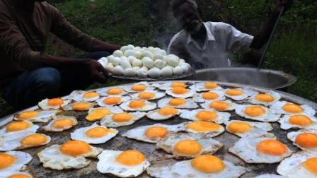 印度大爷豪煮250个鸡蛋, 这是要一次吃个够的节奏吗?