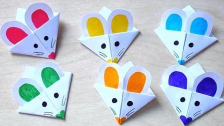 折一只小老鼠书签, 创意折纸秀艺术, 手工DIY折纸大全图解