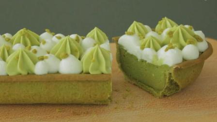 家庭烘焙教室: 绿茶芝士挞, 高颜值甜品让你的下午茶美美哒
