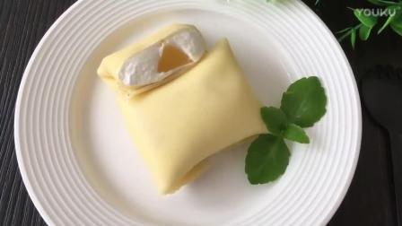 烘焙奶油打发视频教程 黄桃班戟的制作方法nd0 生日蛋糕烘焙视频教程全集